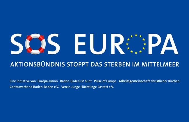 Wir unterstützen die Aktion SOS Europa
